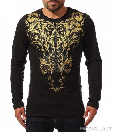 Есенна блуза със златен орнамент 10211