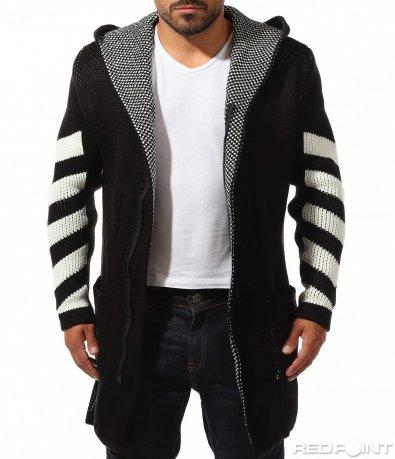 Пъстра плетена жилетка 10175