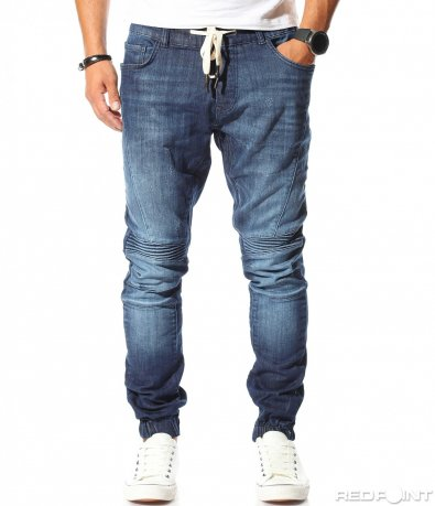 Спортен дънков син панталон 10183