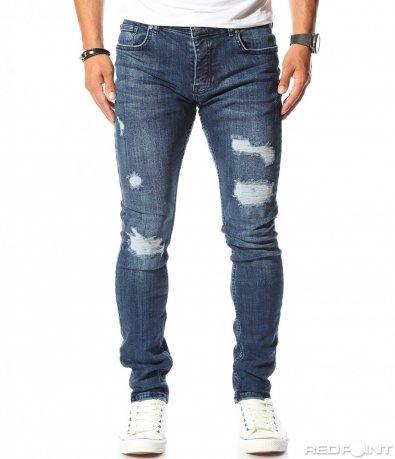 Дънков панталон в класически син цвят 10190