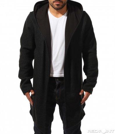 Плътна жилетка в черен цвят 10200