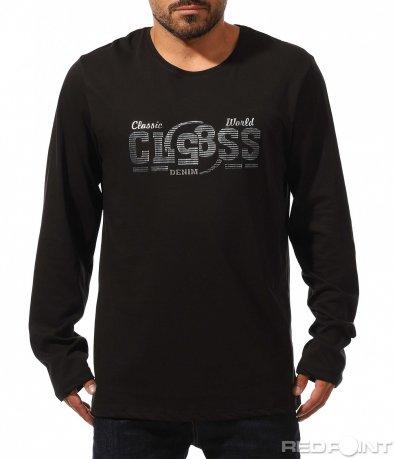 Класическа блуза с надпис 10234