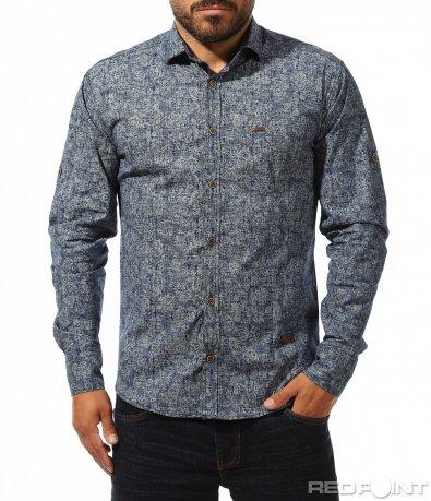 Синя клубна риза 10271