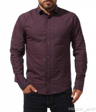 Slimfit риза с акцент 10272