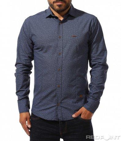 Риза в класически син цвят 10276