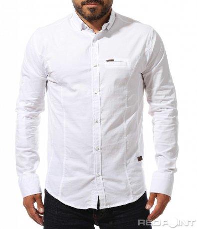 Класическа риза с капси 10277