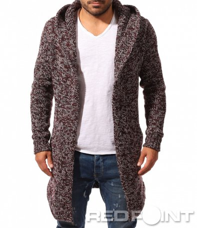 Плетена жилетка с издължена кройка 10298