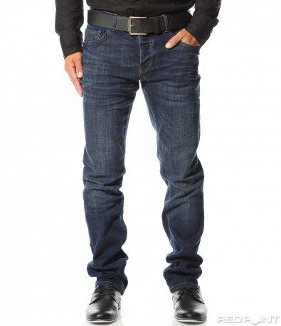 Тъмно сини дънки с колан 10295