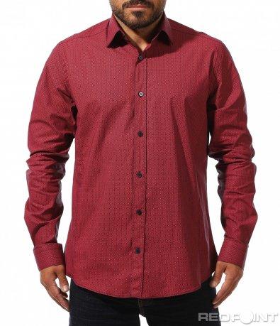 Класна риза с ефектен принт 10282