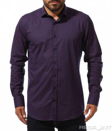 Вечерна риза с принт 10288
