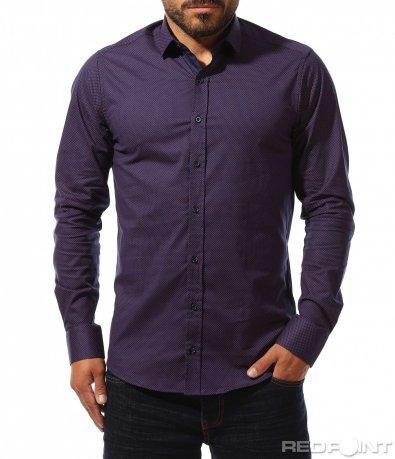 Тъмно синя риза на точки 10289