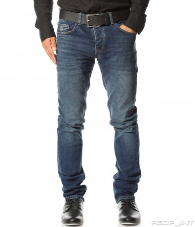 Тъмно сини дънки с колан 10297