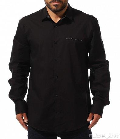 Класическа черна риза 10302