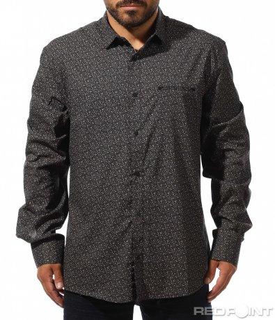 Модерна риза с малки елементи 10301