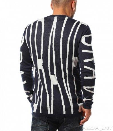 Ексцентричен пуловер с оригинален принт 10335