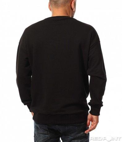 Черна спортна блуза с надпис 10333