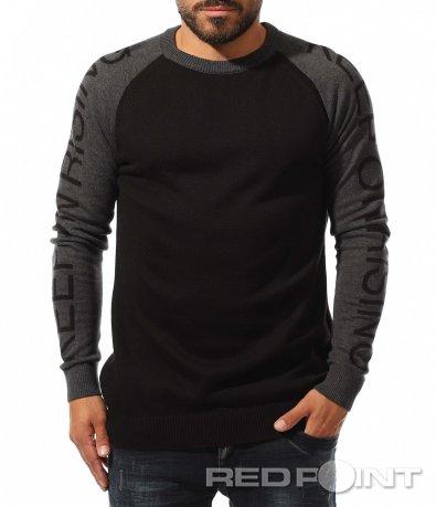 Стилен пуловер с реглан ръкав 10346