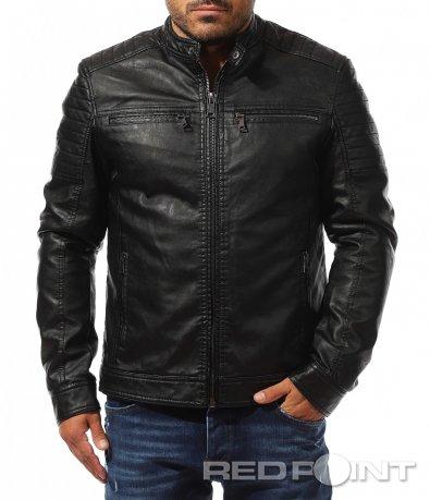 Черно яке от еко кожа 10376