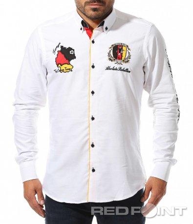 Екстравагантна бяла риза 10463