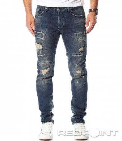Skinny модел дънки с кръпки 10468