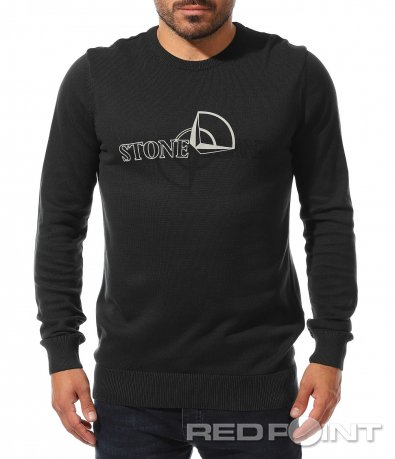 Семпъл пуловер с надпис 10470