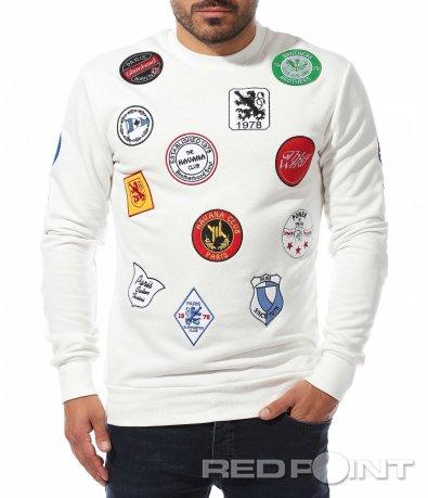 Ексцентрична блуза с емблеми 10472