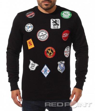 Bluză excentrică cu embleme 10472