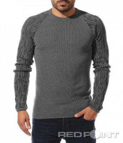 Еластичен пуловер с реглан ръкав 10483