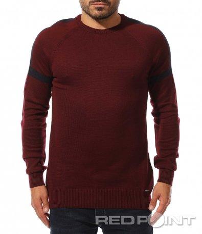 Семпъл пуловер в изчистен десен 10495