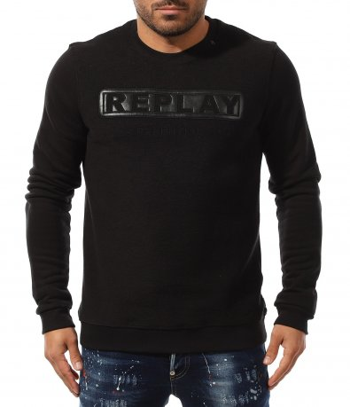 Ватирана спортна блуза Replay