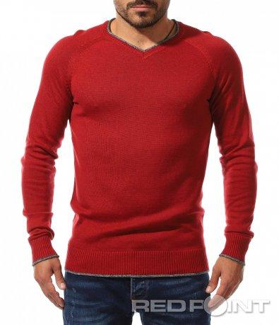 Фин пуловер с бод деколте 10506