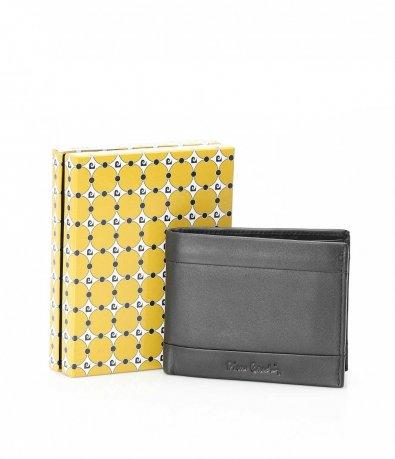 Черен портфейл с декорация 10533