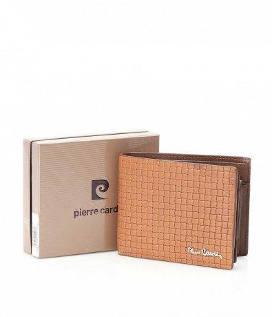 Кафяво портмоне с релефен дизайн 10528