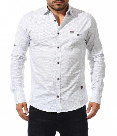 Спортно официална риза на точки 10571