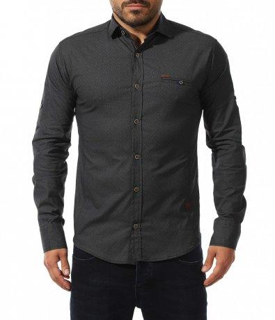 Черна slim риза 10572