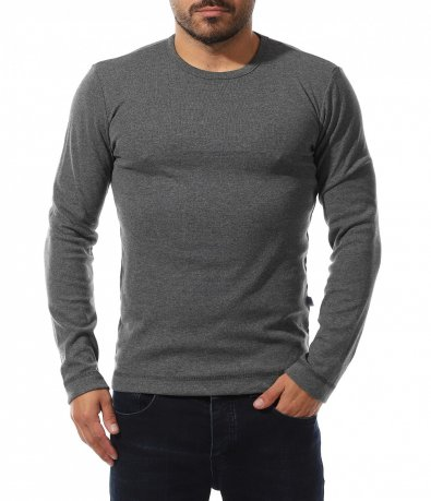 Едноцветна еластична блуза 10568