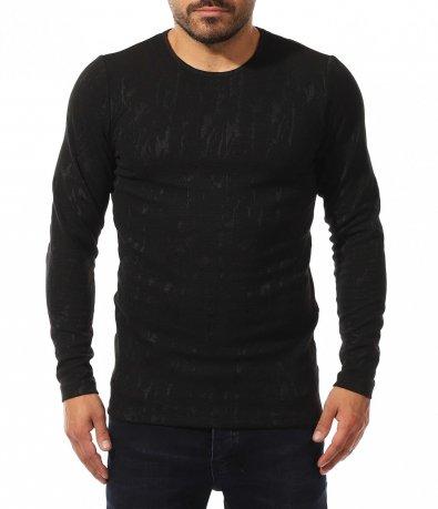 Черна клубна тениска 10565