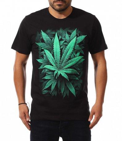 Черна t shirt с щампа 10610