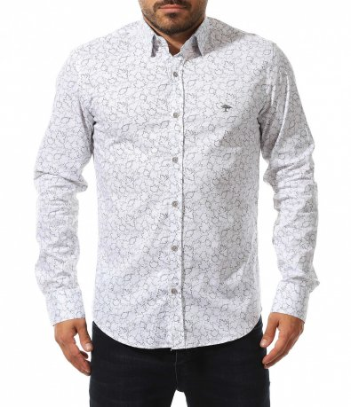 Риза със семпъл принт на листа 10551