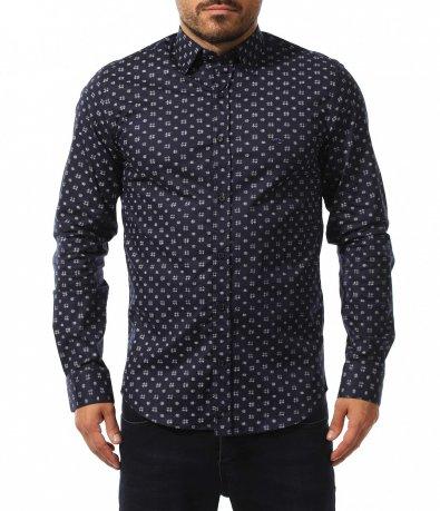 Елегантна риза с мотиви 10552