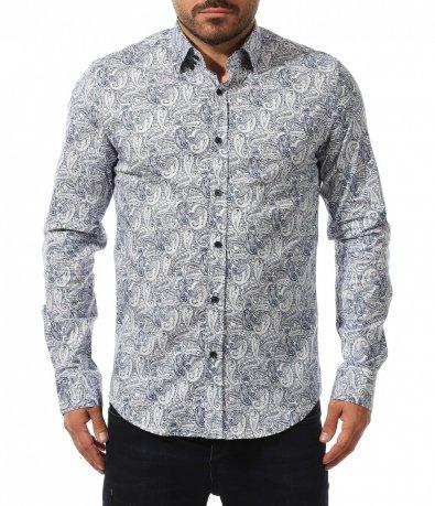 Спортно елегантна риза с акцент 10555