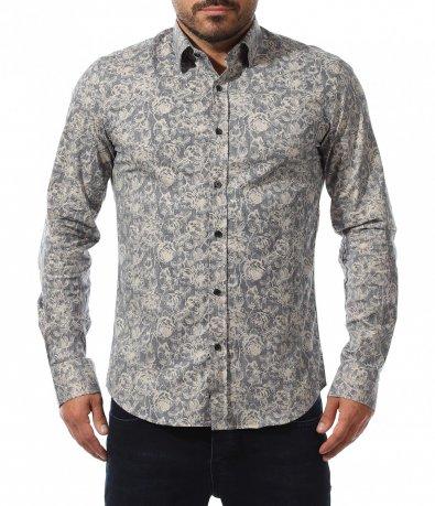 Ефектна риза с класен десен 10556