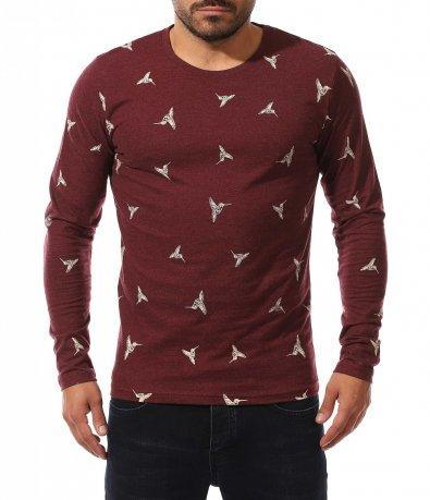 Памучна блуза с принт 10566