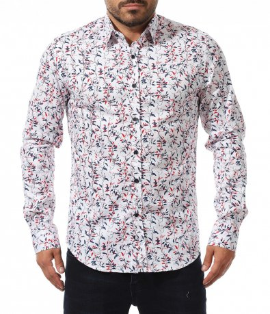 Свежа риза с цветни детайли 10569