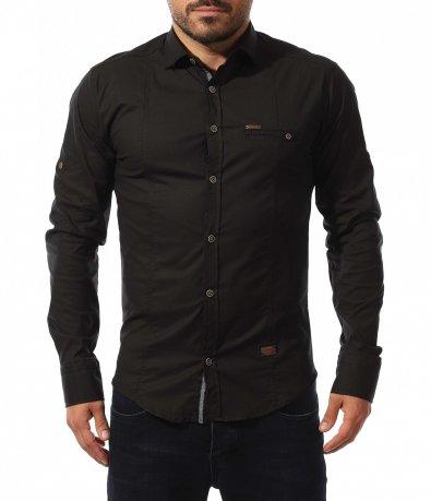 Едноцветна slimfit риза 10573