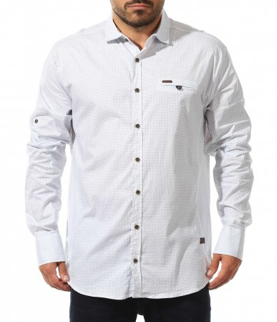 Риза с контрастни елементи 10574