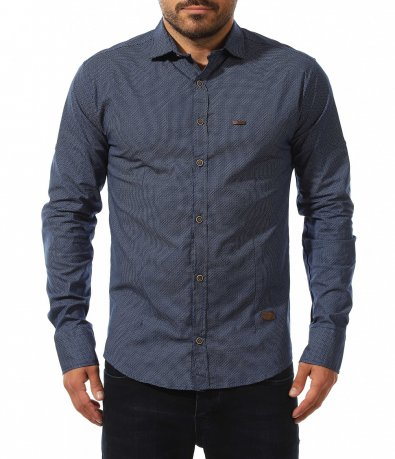 Класическа риза с дребен принт 10577