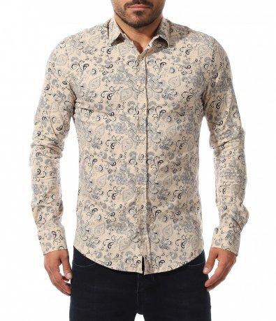 Ефектна риза с декоративен принт 10583