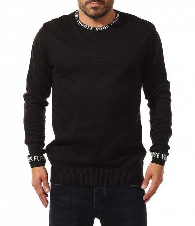Семпъл пуловер с надписи 10586