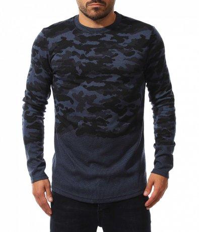Longfit пуловер с камуфлажен десен 10588